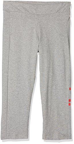 adidas Mädchen Essentials 3/4 Linear Tights, Medium Grey Heather/Real Coral/White, 164