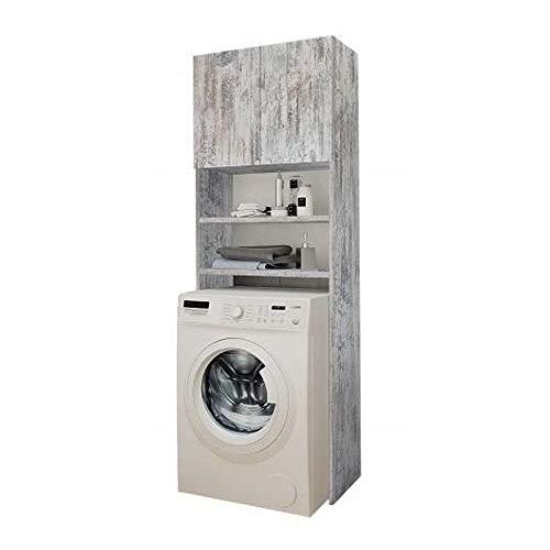 Selly Home Meuble de Rangement Machine a Laver - Meuble Colonne Salle de Bain - Etagere Rangement - Commode pour Machine a Laver - Meuble WC pour Lave Linge – Armoire Pin