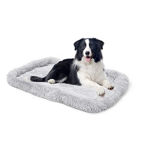 amorus Dog Bed, Ultra Soft Comfortable Plush Cushion Bed, Washable Warming Rectangle Dog Crate Mat for Medium Large Dogs (36x23inch) Beds