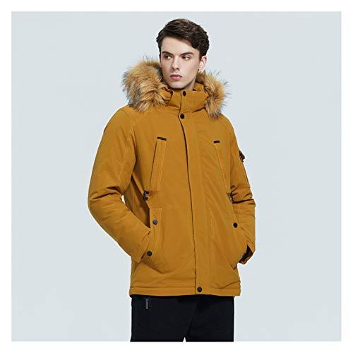 TBAO Winter Neue Herrenjacke Mittellange Baumwolljacke Mit Kragenbekleidung (Color : M513, Size : 52)