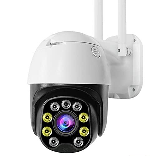 Jings Cámara inalámbrica para Exteriores, cámara IP WiFi PTZ de 2MP 5X, detección de Humanos, Audio bidireccional, cámara de visión Nocturna, cámara de Seguridad Impermeable IP66