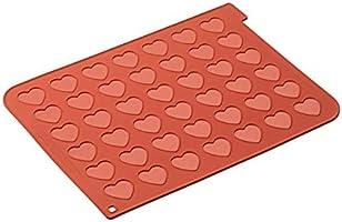 silikomart Mac03 Alfombra y Hojas de cocción, Silicona, Rojo ladrillo, 5.5 x 5.5 x 30.5 cm