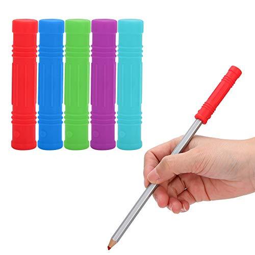Silikon-Kau-Bleistift-Topper, sensorisches Kauspielzeug für Kleinkinder für Babysicherer Silikon-Baby-Schnuller für beißende Kinderkrankheiten(Blau)