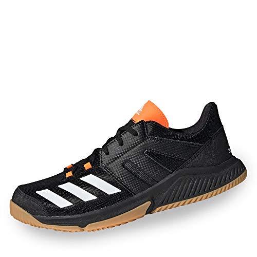 adidas Herren Essence Handballschuhe, Schwarz (Negbás/Ftwbla/Narsol 000), 47 1/3 EU