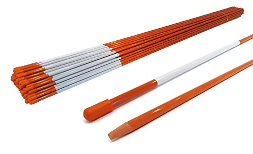 The ROP Shop   5/16 Inch (Pack of 10) Orange 48 Inch Reflective Driveway Markers, Snow Stakes Poles...
