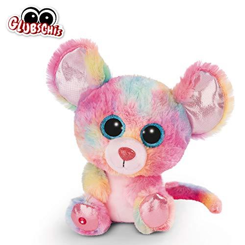 NICI Glubschis: Das Original – Glubschis Maus Candypop 25 cm – Kuscheltier Maus mit großen Augen – Flauschiges Plüschtier mit großen Glitzeraugen – Schmusetier für Kuscheltierliebhaber – 45567