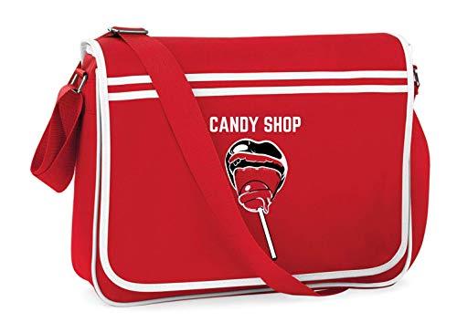 Druckerlebnis24 – Bolso de hombro – Caramelos Lollipop imagen – Bolso bandolera adecuado para escuela, universidad, portátil o trabajo