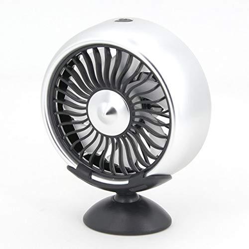 LYKYL Fan del Coche eléctrico 12V SUV del Coche de 360 Grados giratoria de 3 velocidades con Cabeza de Doble circulación de Aire de refrigeración del Coche automático del Ventilador (Color : A)