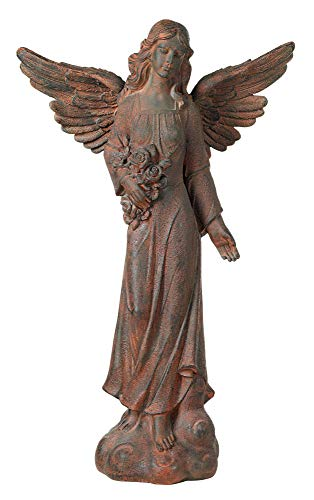 Kensington Hill English Tudor Angel Outdoor Statue 41 1/2' High Sculpture for Yard Garden Patio Deck Home Entryway Hallway