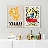 Cuadro En Lienzo Joan Miro Carteles E Impresiones Abstractos Vintage Cuadros Famosos Impresiones ArtíSticas De Pared Estilo Escandinavo DecoracióN Del Hogar 80x110cmx2 (32x44'X2) Sin Marco