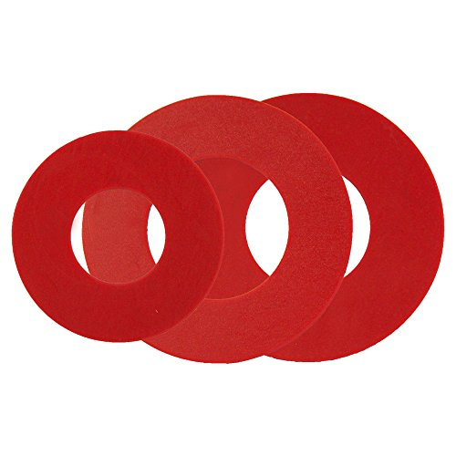 Korky 440BP Dual Flush Seal Kit - Replaces AquaSource, American Standard, Glacier Bay and Mansfield Seals - Made in USA , Red , 3 In.