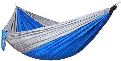 Camping hangmat Outdoor patio rollover canvas hangmat met een houten stok enkel dubbel camping draagbare hangmat swing (Color : Blue, Size : 270 * 140)