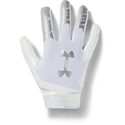Under Armour Men's F7 Football Gloves , White (100)/Metallic Silver , Small