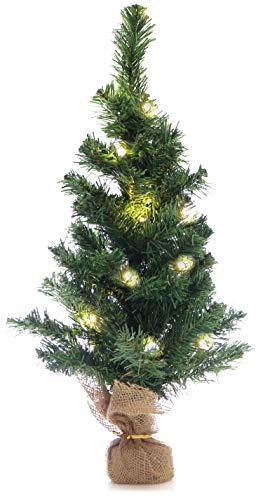 com-four Albero di Natale Artificiale in Verde con Supporto, in Diverse Misure, Albero di Natale per Natale Come Decorazione Perfetta