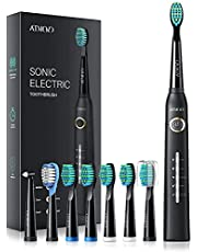 Epeios Electric Toothbrush, Sonic Toothbrush for Men and Women with 40000VPM 8 Brush Heads 5 Modes, Whitening Sonic Toothbrushes DiamondClean Rechargeable 4 Hours Charge Minimum 30 Days-HP126A