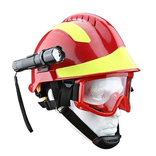outdoor equipment Casco Exterior ABS Ligero, Casco de protección de Rescate de Escalada de montaña Salvaje, Conjunto de Linterna de Sombrero de Seguridad anticolisión ZDDAB