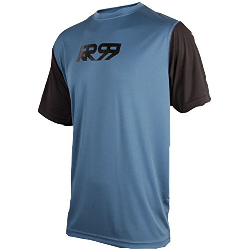 Royal Racing Maillot Core-Manches Courtes-Bleu/Noir-XL Homme, FR Taille Fabricant