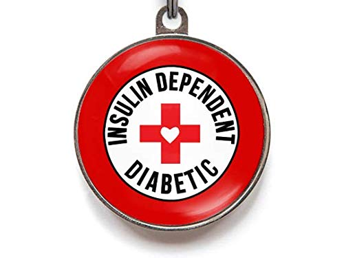 Diabetes Dog Tag, Insulin Dependent Diabetic Pet ID Tags for Cats and Dogs (Large)