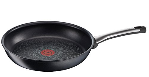 Tefal D2820592 Talent Sartén sin tapa, acero inoxidable y titanio, 32 cm, color negro