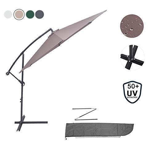 avis parasol deporte professionnel Parapluie rond OMNIPRO déportation 3m, parasol de jardin extérieur aluminium et protection UV 50+ toile,…