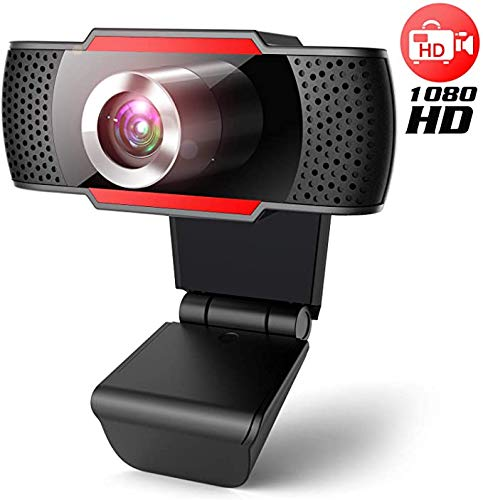 J JOYACCESS USB Full HD-Webcam 1080p mit Stereomikrofon - Plug-and-Play Laptop Desktop Webcam für Videoanrufe Spiele Live-Streaming Konferenzen