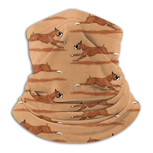 Mathillda Running Boxer Dog Fleece Neck Warmer - omkeerbare hals Gamas, veelzijdige oorwarmer-hoofdband