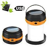 Lanterna da Campeggio Pieghevole 2 Modalità di Ricarica-Solare e USB, Power Bank, Lampada Portatile per Tenda 3 Modalità di Luce LED Luce di Emergenza Solare per Escursionismo, Pesca, Garage, Barbecue