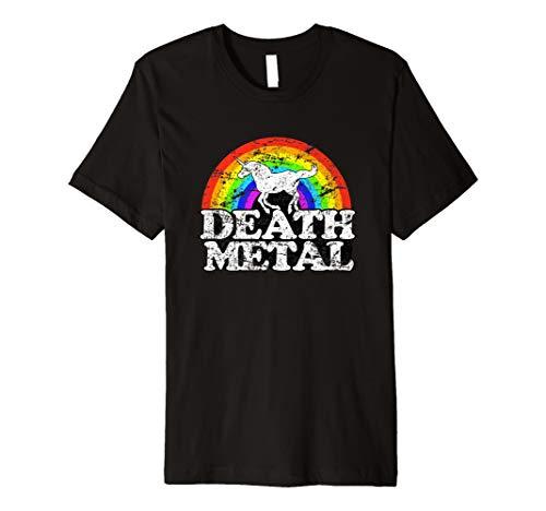 Einhorn Death Metal T Shirt–Funny Rainbow Tee