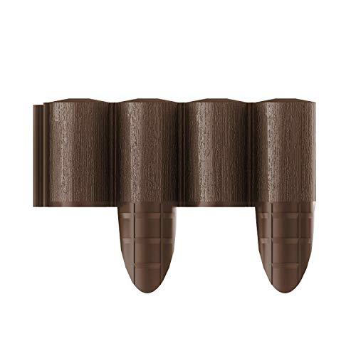 Cellfast Palizzata Bordatura da Giardino Eco 4, 10 Pezzi, 2,4 x 0,24 m