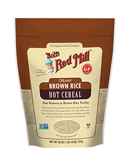 Bob's Red Mill Creamy Rice Farina Hot Cereal, Brown, 26 Ounce