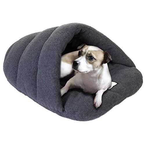 Goodup - Cama para mascotas con forma de cueva para interiores, cama nido para mascotas con lados suaves para perro o gato,...