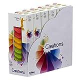 Generisch 48 Stück Bolsius Creations Schmelzblüten Duftblüten Melts Aromatic Wax Wachs Happy Mix (6x8 Pack)