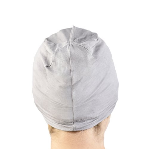 JASMINE SILK Jasmine Silk Cardani Schlafmütze aus Bambus, geeignet für Chemo und Haarausfall, für Chemo-Krebs Gr. One size, grau