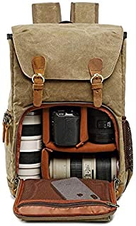 Canvas Waterproof Photography Bag Outdoor Wear-resistant Large Camera Photo Backpack Men for Nikon/Canon/Sony/Fujifilm