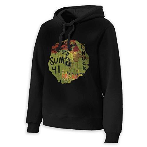 Sudaderas Activewear Top Hoodies Sum 41 Chuck Woman'S Drawstring No Pocket Winter Hooded