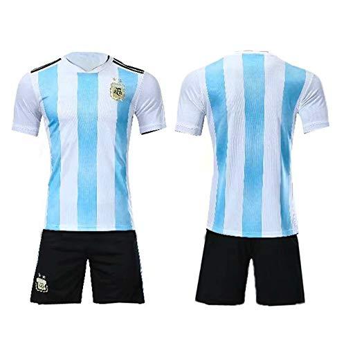 MILAOSHU 1986 Argentina Retro Jersey No. 10 Maradona Clásico Retro Conmemorativo Adulto Traje para Niños Camiseta De Fútbol Traje Deportivo Camiseta De Aficionado