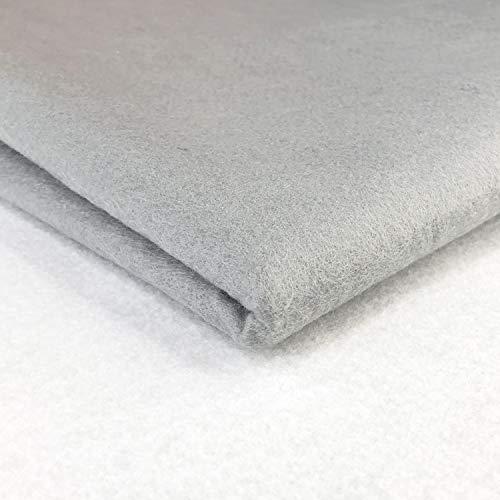 Tela de fieltro acrílico de 150 cm de ancho para costura y decoración de manualidades (plata pastel)
