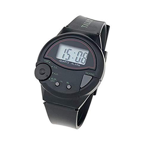 Orologio Digitale da Polso Parlante in Italiano adatto anche per non vedenti Unisex per Bambini Adulti e Anziani Watch