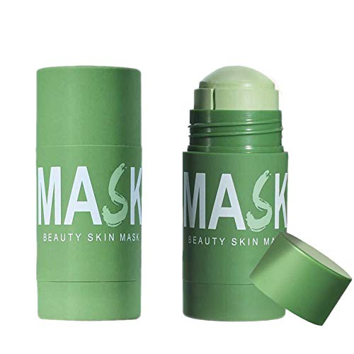 Green Tea Purifying Clay Stick Mask,2Pcs Green Tea Oil Control Cleansing Mask Remove Blackhead, Shrink Pores, Solid-Mask for All Skin Type