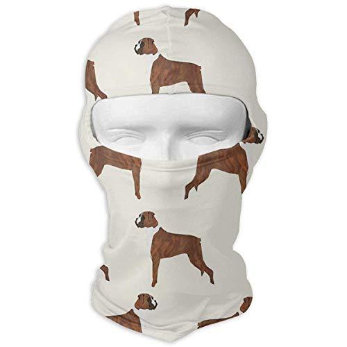 ALaze Boxer Dog Pattern Dog Lover Pet Balaclava Full Motorcycle Helmet Liner Respirant Sports de Plein air Wind Proof Dust Head Hood