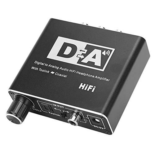 Convertidor de Audio Digital a analógico Conector de 3,5 mm Cable óptico coaxial Adaptador Decodificador Coaxial óptico a analógico Decodificador de Audio estéreo Convertidor de Audio