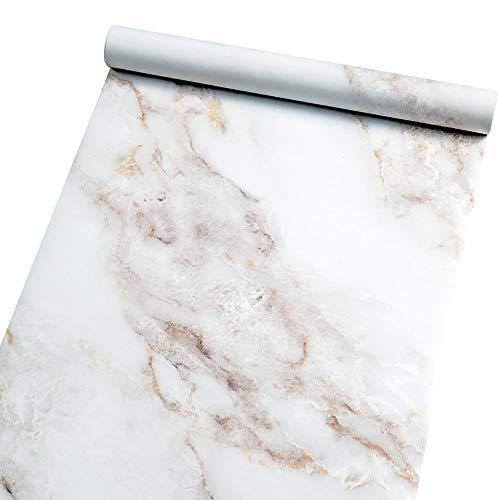 Homein Möbelfolie Marmor Folie Klebefolie Vinyl Selbstklebend Dekorfolie Fensteraufkleber PVC Aufkleber für Möbel Küche Küchenschrank Granit 60 x 200 cm