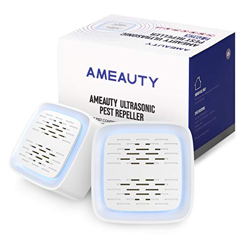 Ameauty Ultrasonic Pest Repeller, 2021 Upgraded, Pest Control Set of Electronic Plug in Indoor for Insects, Mosquito, Mouse, Cockroach, Rats, Bug, Spider, Ant (2 Pack)