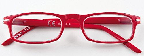 Lesebrille Zippo Herren Damen Unisex Rot + 3.00 Dioptrien 31Z-B6-Red