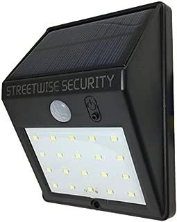 Streetwise Security Products SWSZSL20 *区太阳运动 LED 灯 1 Solar Light 黑色 SWSZSL20