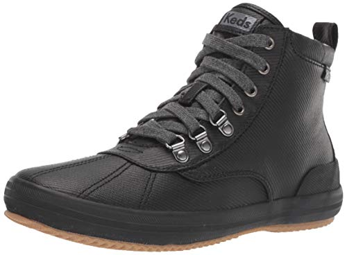 Keds Women's Keds Scout Boot Matte Twill Ankle Boot, Black, 7.5 M US