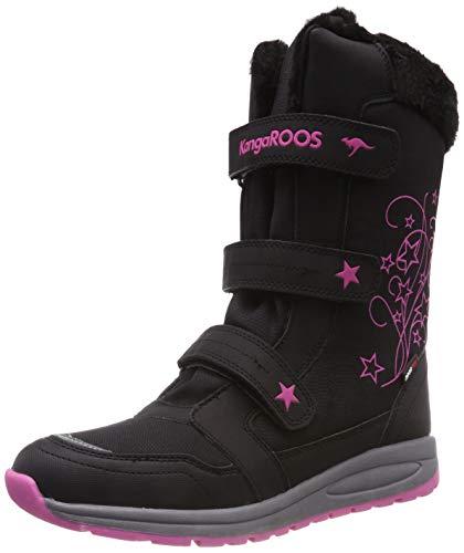 KangaROOS K-Star Boot RTX Unisex-Kinder Stiefel, Gelb (Jet Black/Daisy Pink 5025), 26 EU