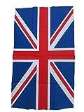 Union Jack - Toalla de té pequeña (100% algodón/rojo blanco azul/decoración de la cocina del hogar/lavable reutilizable paño de plato/útil recuerdo bandera británica Londres, Inglaterra, Reino Unido