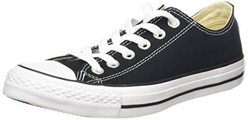 Converse Chuck Taylor All Star, Sneakers Unisex - Adulto, Nero (Black/White M9166), 37 EU