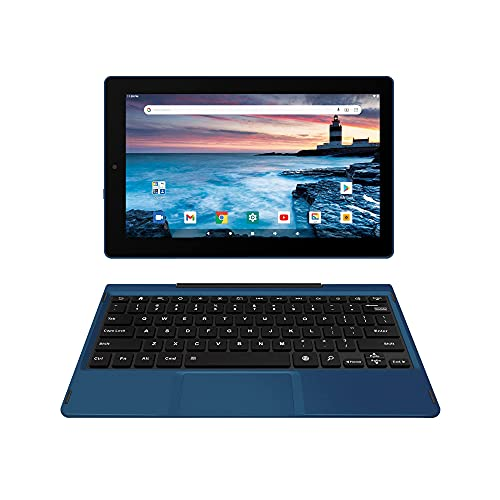 """RCA Premier 11.6"""" Delta Pro 2 Android 10 Tablet with Keyboard (Navy Blue)"""
